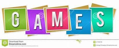 Games Clipart Colorful Word Written Blocks Kleurrijke