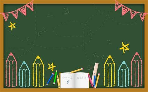 creative cartoon blackboard   student background