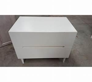 Petit Meuble En Bois : petit meuble en bois blanc 2 tiroirs ~ Teatrodelosmanantiales.com Idées de Décoration