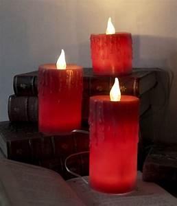 Led Kerzen Echtwachs : 3er set led echtwachs kerzen rot inkl trafo 230v betrieb flammenlose wachs kerze ~ Eleganceandgraceweddings.com Haus und Dekorationen