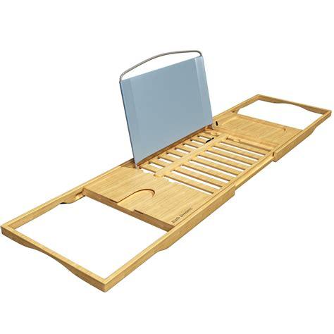 bamboo bathtub caddy tray bath dreams luxury bamboo bathtub caddy tray with
