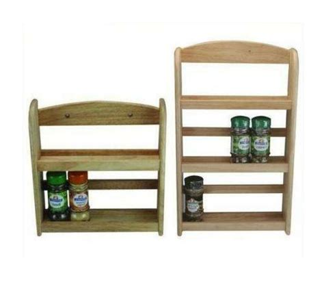 Wall Mount Spice Rack With Jars by Wooden Spice Rack Jar Holder Stand Wall Mounted