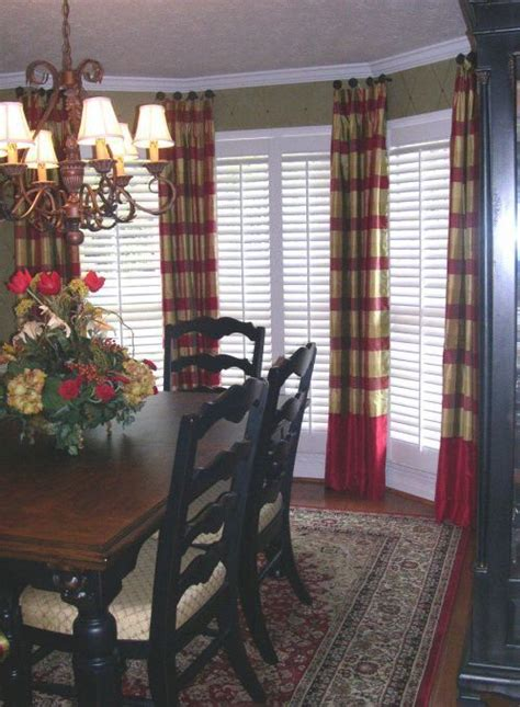 casual window treatments  dining room ideas dining