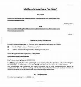 Einverständniserklärung Flug Unter 18 Muster : makleralleinauftrag mit exklusivit t maklervertr ge auftr ge vertr ge vorlagen ~ Themetempest.com Abrechnung