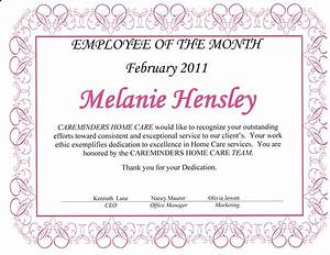 Employee Certificate Templates Free 15 Employee Of The Month Certificate Formal Buisness Letter