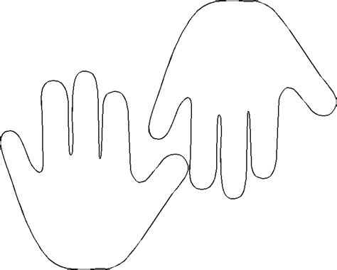 printable handprint template     making