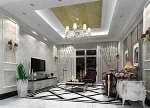 Faire Un Faux Plafond : faux plafond salon villa id e inspirante ~ Premium-room.com Idées de Décoration