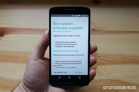 moto x play is now receiving android 6 0 1 in canada android central