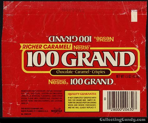 candy wrapper 50 years of nestle s 100 grand bar history collectingcandy