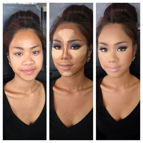contour light body sculpting before and after the right ways to contour highlight for beginners