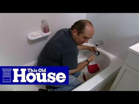 clear  clogged bathtub drain youtube
