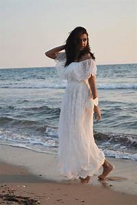 ivory lace wedding dress beach bohemian wedding by With ivory beach wedding dresses
