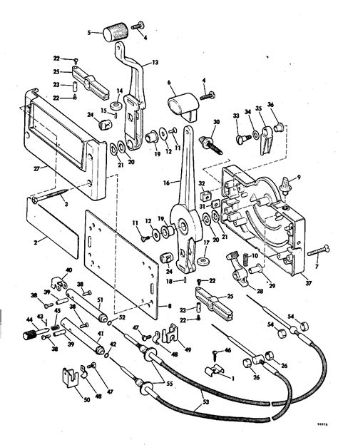 diagram mercury outboard controls diagram