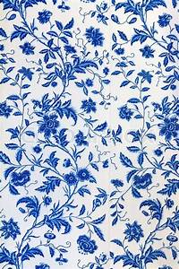 Blue floral pattern on the wallpaper Stock Photo Colourbox