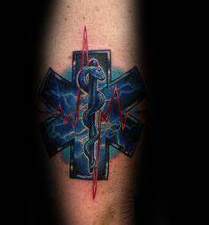 60 Star Of Life Tattoo Designs For Men - EMS, EMT and ...