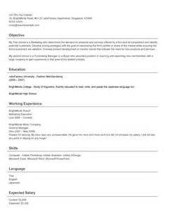 resume photo size singapore singapore resume sles