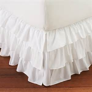 white split corner ruffle layered bed skirt by decorwithshams