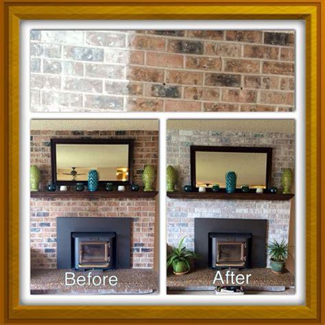 Whitewash Brick Fireplace