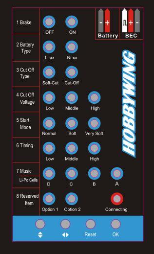 LED Program Card for FunFly esc