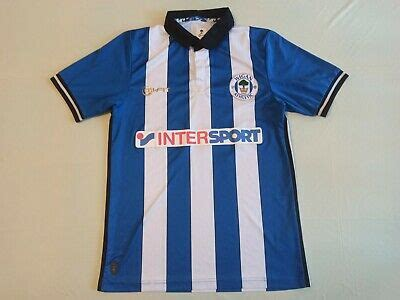 WIGAN ATHLETIC 2014/2015 HOME FOOTBALL SHIRT JERSEY MI-FIT ...