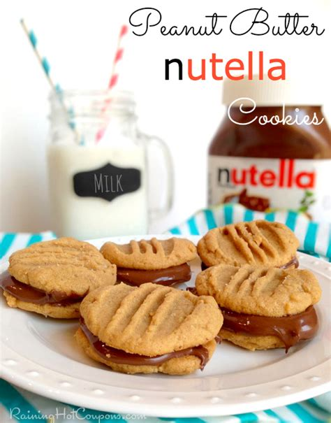 recipes with nutella peanut butter nutella cookies recipe only 4 ingredients