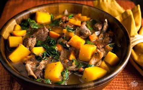 butternut squash  beef stew paleo leap