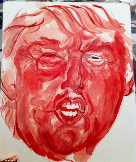 what is the real color of blood artist levy uses menstrual blood to paint a donald