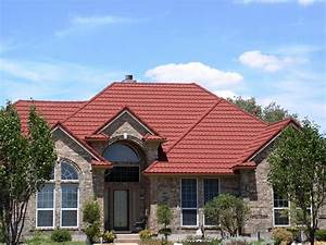 Metal Roofing Traditional House Design With Red Roof Ideas