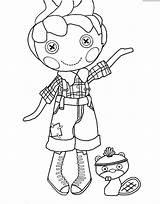 Lalaloopsy Coloring Doll Boy Rag Printable Littles Birthday Getcolorings Template sketch template