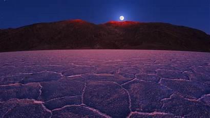 Desert Night Ground Moon Cracked Nature Valley