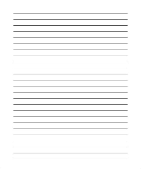 lined paper template pdf 12 lined paper templates pdf doc sle templates