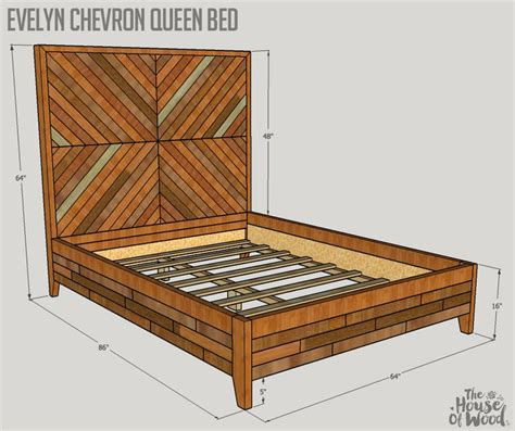 evelyn queen bed plans high meadow home chevron