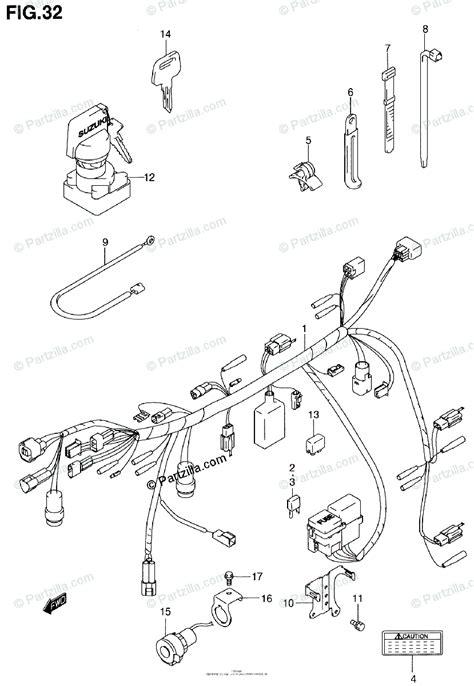 Suzuki Atv Oem Parts Diagram For Wiring Harness