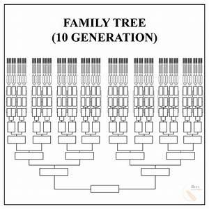 Free Family Tree Template  U2013 Pdf  Excel  Word  U0026 Google Doc