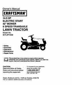 4 Sears Craftsman 14 5 Hp Riding Mower Tractor Manuals