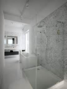 Bathroom Room Ideas - black white shower room interior design ideas
