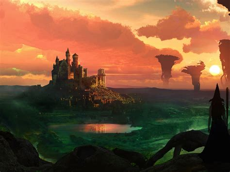 wallpaper witch fort sunset hd creative graphics