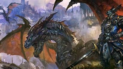 Epic Dragon Knight Fantasy Armor Sword Widescreen
