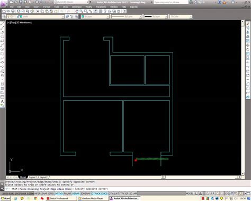 autocad   draw  basic architectural floor plan