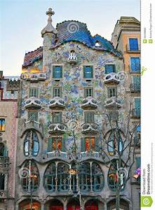 Facade Of The Casa Batllo By Gaudi In Barcelona Editorial ...