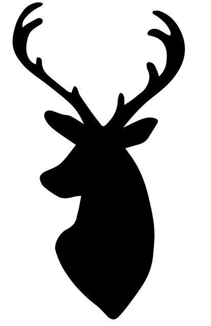 deer head silhouette pillow   deer head silhouette
