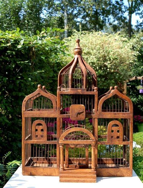 cage d oiseau avec cadre en bois fait catawiki