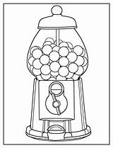 Coloring Gumball Machine Easy Pages Colouring Sheets Printable Candy Worksheets Olphreunion Kindergarten sketch template