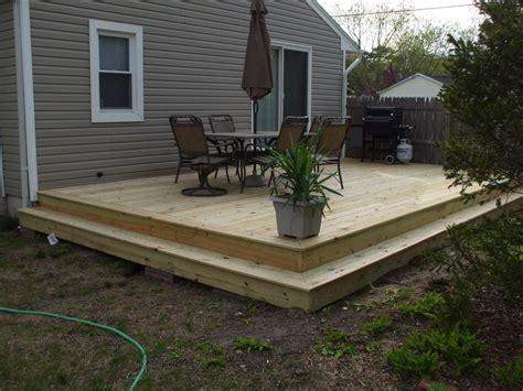 questions  framing  ground level deck decks