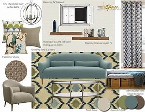 Mid Century Modern Living Room Inspiration Board - A Space