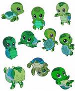 Sea Turtle Clip Art  Baby Shower Sea Turtle Cartoon
