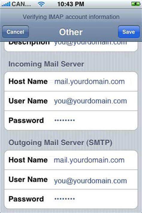 how to setup email on iphone 5 setting up email on apple iphone or ipod touch with imap 20321