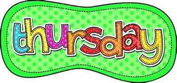 Image result for Thursday Text
