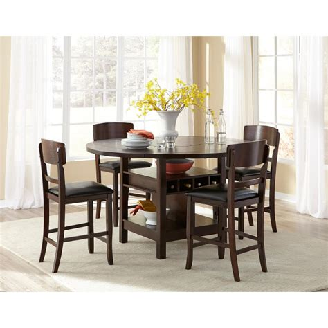 5 Dining Room Set 200 by Hton Walnut 5 Counter Height Dining Set