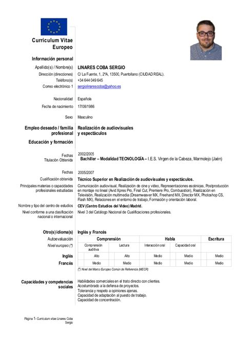 search results  curriculum vitae europeo calendar